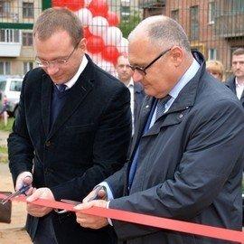 Торжественное открытие корта во дворе улицы Банникова, 6