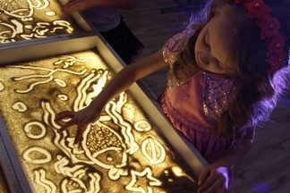 Студия рисования песком в клубе АКАДЕМИЯ ТАЛАНТОВ