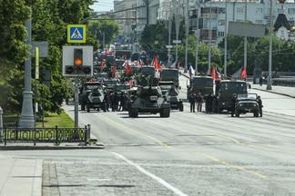 Карта перекрытия улиц в Орджоникидзевском районе из-за парада Победы