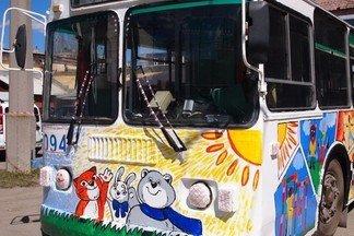 Ребята из «Сокола» украсили стены городского транспорта яркими рисунками