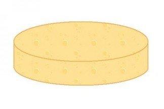 Попробуйте тремя движениями ножа разрезать сыр на восемь равных кусков.