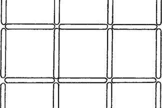 Уберите четыре палочки так, чтобы осталось всего пять квадратов
