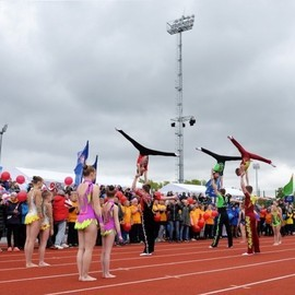 Официальное открытие легкоатлетического стадиона в спортивном комплексе «Калининец»