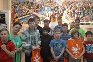 Воспитанники Екатеринбургского детского дома №3 посетили Информационный центр по атомной энергии