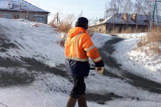 В Екатеринбурге коммунальными службами ликвидировано 15 опасных горок
