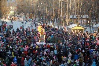 Около восьми тысяч жителей Орджоникидзевского приняли участие в масленичных гуляниях!