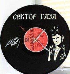 """Fabrika Masterov оригинальный подарок, настенные часы """"Сектор газа"""" из пластинки"""
