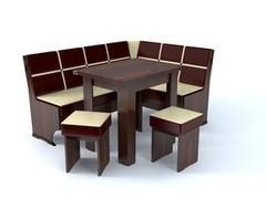 УРАЛЬСКИЙ ДОМ МЕБЕЛИ Кухонный угол Лион 2 с поворотно-раскладным столом