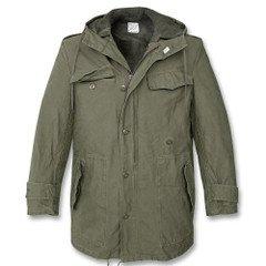 Верхняя одежда мужская М-65 Куртка-парка армии Бундесвер олива с подстежкой