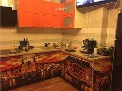 Мебель, декор ПРЕМЬЕРА Кухня оранжевая с фотопечатью