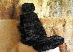 Fabrika Masterov Меховые накидки на сиденья авто «Овчинная мозаика» (2 шт.), черные