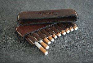 Fabrika Masterov Аскетичный кожаный портсигар - фото 5