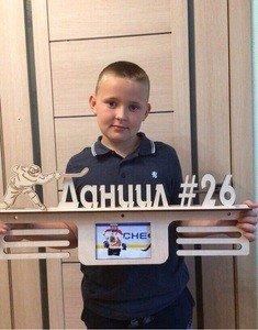 Fabrika Masterov Именной подвес для медалей с фоторамкой Хоккей - фото 4