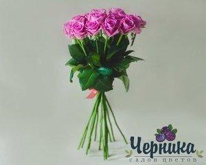 Магазин цветов Черника Монобукет из розовых роз - фото 1