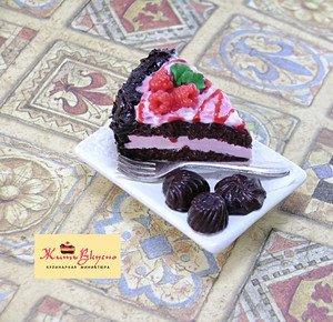 "Fabrika Masterov Магнит ""Торт с шоколадными конфетами"" - фото 2"