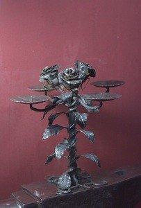 Fabrika Masterov Подсвечник кованый с розами - фото 1