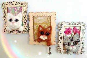 Fabrika Masterov Магнит на холодильник Белый котик - фото 5
