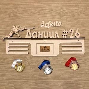 Fabrika Masterov Именной подвес для медалей с фоторамкой Хоккей - фото 5