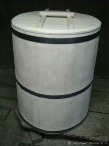 Fabrika Masterov Бочка деревянная 200 литров для воды. Кадка из кедра - фото 3