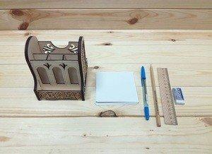 Fabrika Masterov Органайзер. Подставка для ручек, карандашей. Набор канцелярский - фото 2