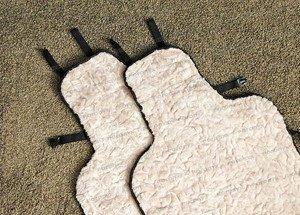 Fabrika Masterov Меховые накидки на сиденья авто «Овчинная мозаика» (2 шт.) - фото 2