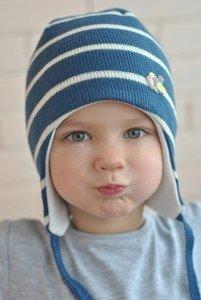Jumbi Зимняя шапка с завязками полосатая - фото 1