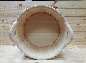 Fabrika Masterov Шайка деревянная 15 литров. Тазик для бани - фото 2