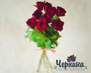 Магазин цветов Черника Монобукет из красных роз - фото 1