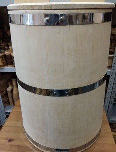 Fabrika Masterov Кадка Бочка деревянная 100 литров. Бочка для воды бани - фото 6