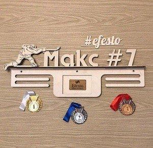 Fabrika Masterov Именной подвес для медалей с фоторамкой Хоккей - фото 1