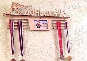 Fabrika Masterov Именной подвес для медалей с фоторамкой Хоккей - фото 3