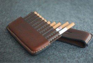 Fabrika Masterov Аскетичный кожаный портсигар - фото 4