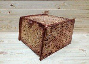 Fabrika Masterov Хлебница деревянная из кедра резная - фото 1
