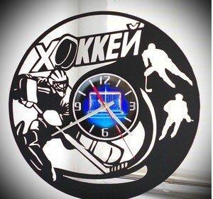 """Fabrika Masterov Оригинальный подарок. Настенные часы """"ХОККЕЙ"""" - фото 1"""