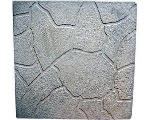 СТРОЙТЕ С НАМИ Тротуарная плитка Тучка (300*300*30мм) серая - фото 1