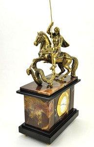 Fabrika Masterov Часы с Георгием победоносцем. Бронза, литье - фото 1