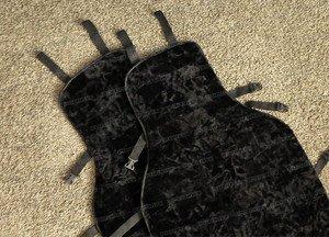 Fabrika Masterov Меховые накидки на сиденья авто «Овчинная мозаика» (2 шт.), черные - фото 2