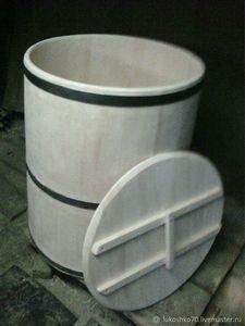 Fabrika Masterov Бочка деревянная 200 литров для воды. Кадка из кедра - фото 1