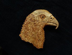Fabrika Masterov Орёл из капа липы Большой коллекционный магнит - фото 1