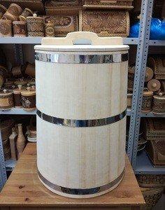 Fabrika Masterov Кадка Бочка деревянная 100 литров. Бочка для воды бани - фото 1