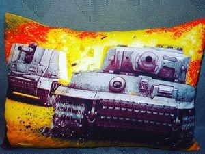 Fabrika Masterov Подушка с танками тематическая - фото 1