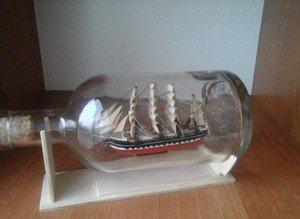 Fabrika Masterov Корабль в бутылке Крузенштерн - фото 1