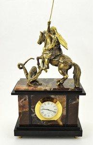 Fabrika Masterov Часы с Георгием победоносцем. Бронза, литье - фото 5