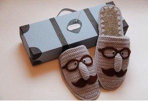Fabrika Masterov Подарок мужчине домашние тапочки подарок мужу УСАЧИ - фото 1