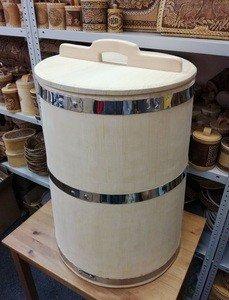 Fabrika Masterov Кадка Бочка деревянная 100 литров. Бочка для воды бани - фото 5