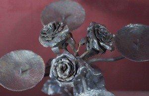 Fabrika Masterov Подсвечник кованый с розами - фото 5