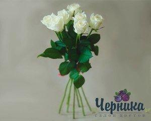 Магазин цветов Черника Монобукет из белых роз - фото 1