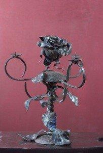 Fabrika Masterov Подсвечник кованый с розами - фото 3