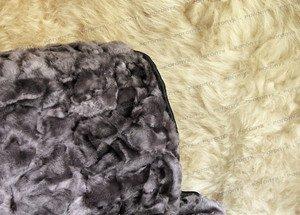 Fabrika Masterov Меховые накидки «Овчинная мозаика» пепельные (2 шт.) - фото 2