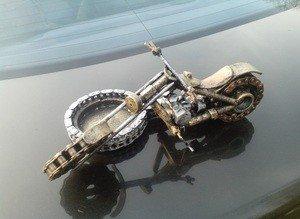 "Fabrika Masterov Пепельница ""Мотоцикл"" - фото 2"
